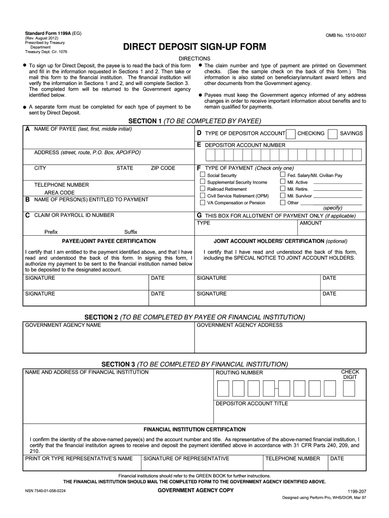 2012-2019 Form SF 1199A Fill Online, Printable, Fillable