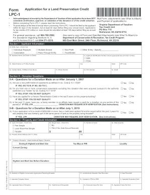 virginia lpc form filled in 2013-2017