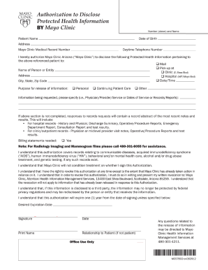 Mayo Clinic Referral Form Fill Printable Fillable Blank Pdffiller