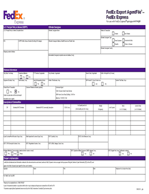 Commercial Invoice Template Fedex Forms Fillable Printable - Commercial invoice fedex template