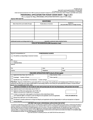 2013 2017 form copyright pto sb 16 fill online printable