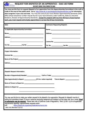 2014-2017 Form CA DAS 142 Form Fill Online, Printable, Fillable ...
