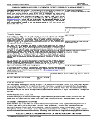 social security representative payee form Templates - Fillable ...