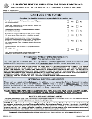 Form Ds-82 Templates - Fillable & Printable Samples for PDF, Word ...
