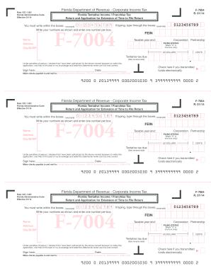 2014 Form FL DoR F-7004 Fill Online, Printable, Fillable, Blank ...