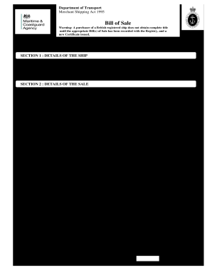 form for bill of sale