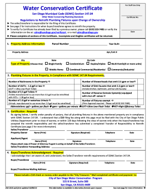 2013 2017 form ca sdmc uw 1616 fill online printable for Water efficiency certificate template