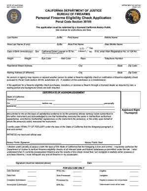 Personal Firearms - Fill Online, Printable, Fillable, Blank ...
