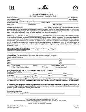 gcaar rental application 2012-2018  form