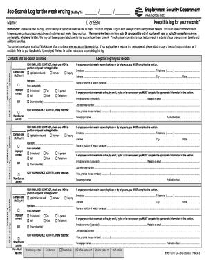Rare image regarding printable job search log