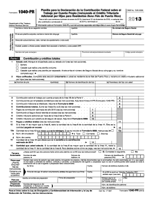 2013 Form IRS 1040-PR Fill Online, Printable, Fillable, Blank