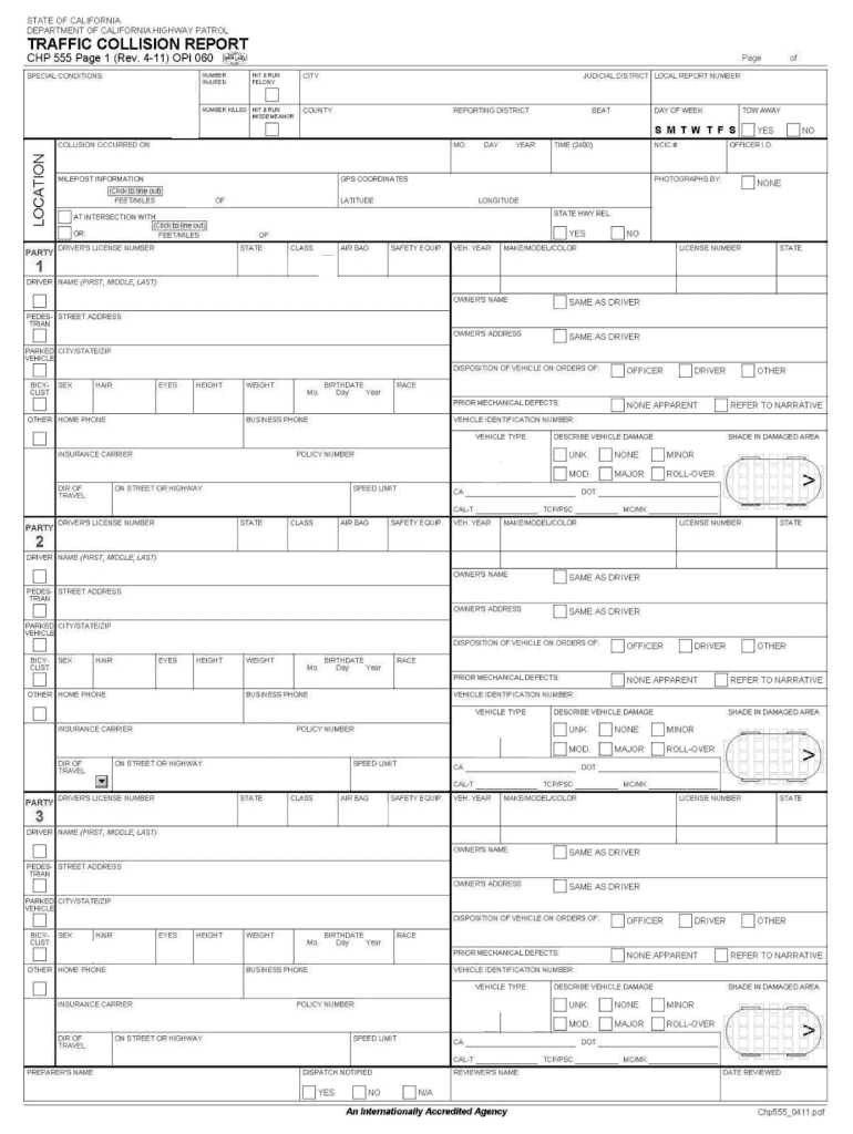 2011-2019 Form CA CHP 555 Fill Online, Printable, Fillable