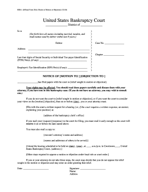 2010-2017 Form US Court Official Form 20A Fill Online, Printable ...