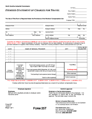 2013-2017 Form NC IC Form 25T Fill Online, Printable, Fillable ...