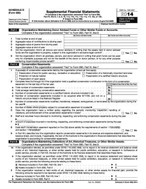 2014 Form IRS 990 - Schedule D Fill Online, Printable, Fillable ...
