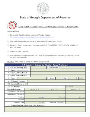 2013 Form GA DoR G-7 Fill Online, Printable, Fillable, Blank ...