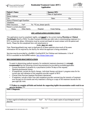 2005 form fl tricare rtc placement application fill online