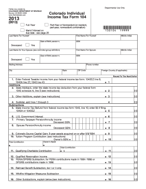 photograph relating to Printable Colorado Income Tax Form 104 named Colorado Tax Types 104