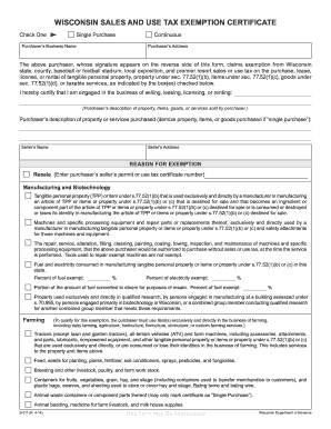 wi sales tax exemption form Fill Online, Printable, Fillable ...