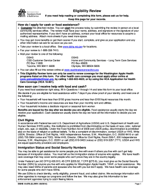 Dshs Food Stamps Eligibility