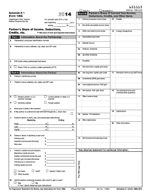 2015-2017 Form IRS 1065 - Schedule K-1 Fill Online, Printable ...