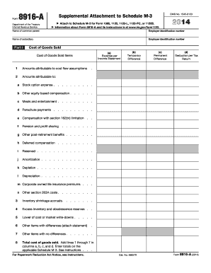 irs form attachment 2014