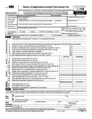 form 990 for 2014