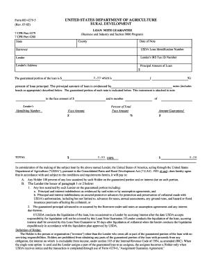 2005-2017 Form USDA RD 4279-5 Fill Online, Printable, Fillable ...