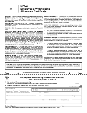 2014 Form NC DoR NC-4 Fill Online, Printable, Fillable, Blank ...