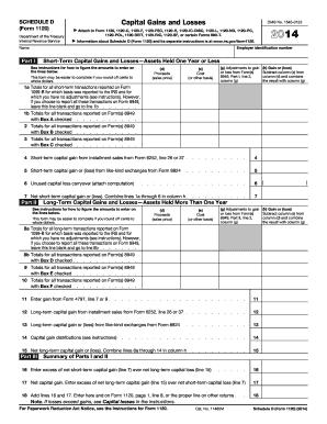 1040 capital gains worksheet