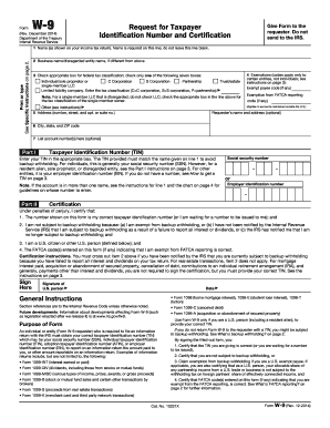 Fillable Printable 2017 IRS W-9 Form