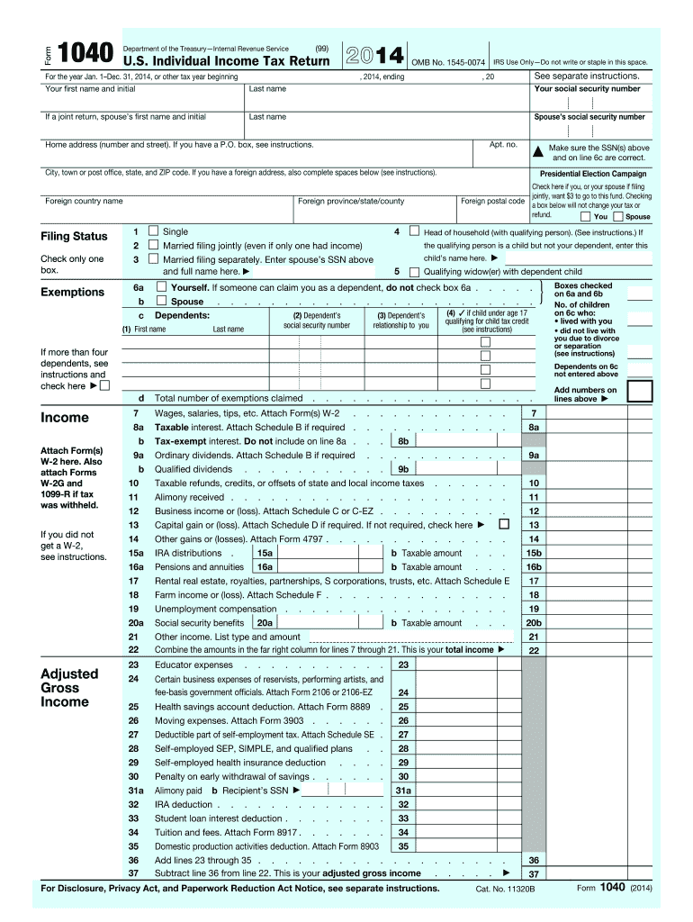 form 1040 qualified dividends  14 Form IRS 14 Fill Online, Printable, Fillable, Blank ...