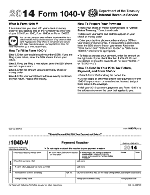 2014 Form Irs 1040 V Fill Online Printable Fillable Blank Pdffiller