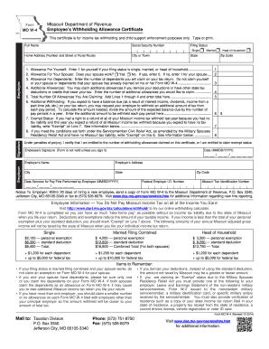 2014-2017 Form MO W-4 Fill Online, Printable, Fillable, Blank ...