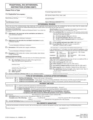 Traditional Withdrawal - Fill Online, Printable, Fillable, Blank ...