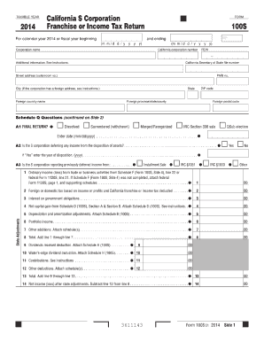 2015-2017 Form CA FTB 100S Fill Online, Printable, Fillable, Blank ...