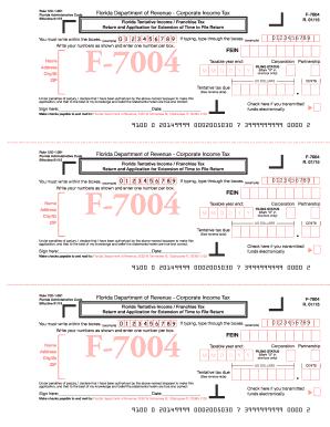 2015-2017 Form FL DoR F-7004 Fill Online, Printable, Fillable ...