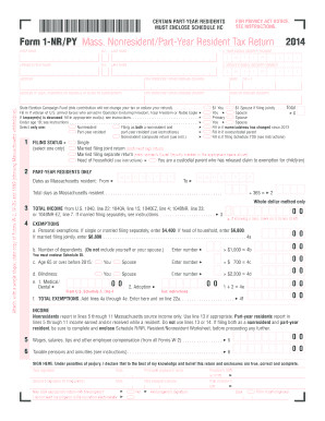 2015-2017 Form MA DoR 1-NR/PY Fill Online, Printable, Fillable ...