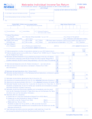 2015-2017 Form NE DoR 1040N Fill Online, Printable, Fillable ...