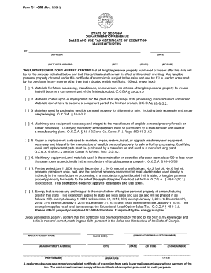 2014-2017 Form GA DoR ST-5M Fill Online, Printable, Fillable ...