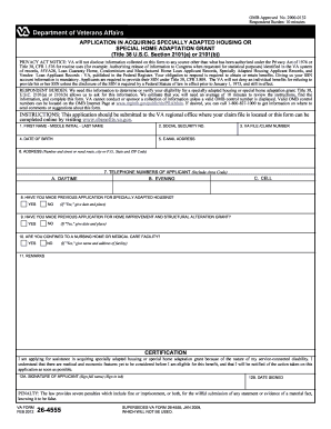 2012-2017 Form VA 26-4555 Fill Online, Printable, Fillable, Blank ...