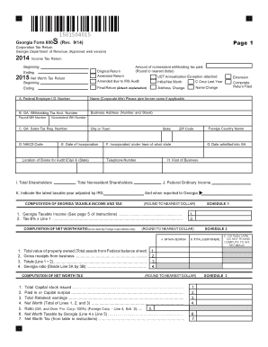 2014 Form GA DoR 600S Fill Online, Printable, Fillable, Blank ...
