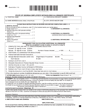 2014-2017 Form GA DoR G-4 Fill Online, Printable, Fillable, Blank ...