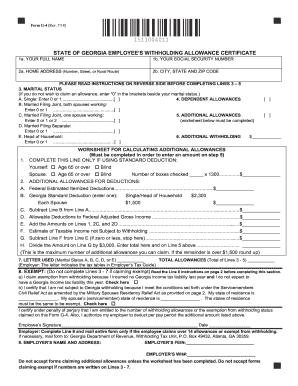2014-2018 Form GA DoR G-4 Fill Online, Printable, Fillable ...