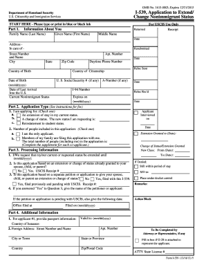 2012 Form USCIS I-539 Fill Online, Printable, Fillable, Blank ...