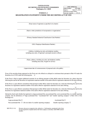 2014-2017 Form SEC 870 S-1 Fill Online, Printable, Fillable, Blank ...
