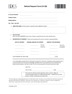2013 2018 form il ui 28 fill online printable fillable blank preview of sample form adjustment refund altavistaventures Images