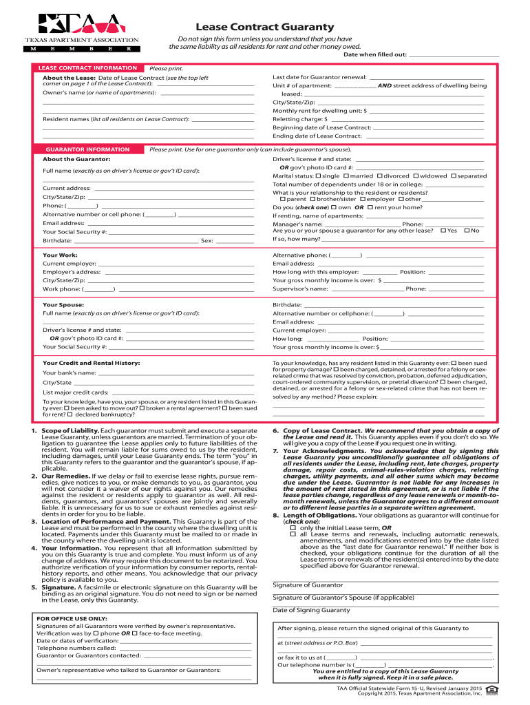 Taa Form 15 F - Fill Online, Printable, Fillable, Blank