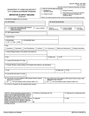 2013-2017 Form CBP 5106 Fill Online, Printable, Fillable, Blank ...