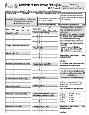 picture about California Immunization Card Printable titled Detailed Printable california immunization manual 2015